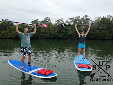 Paddle board lessons include time on land and in the water practicing your skills